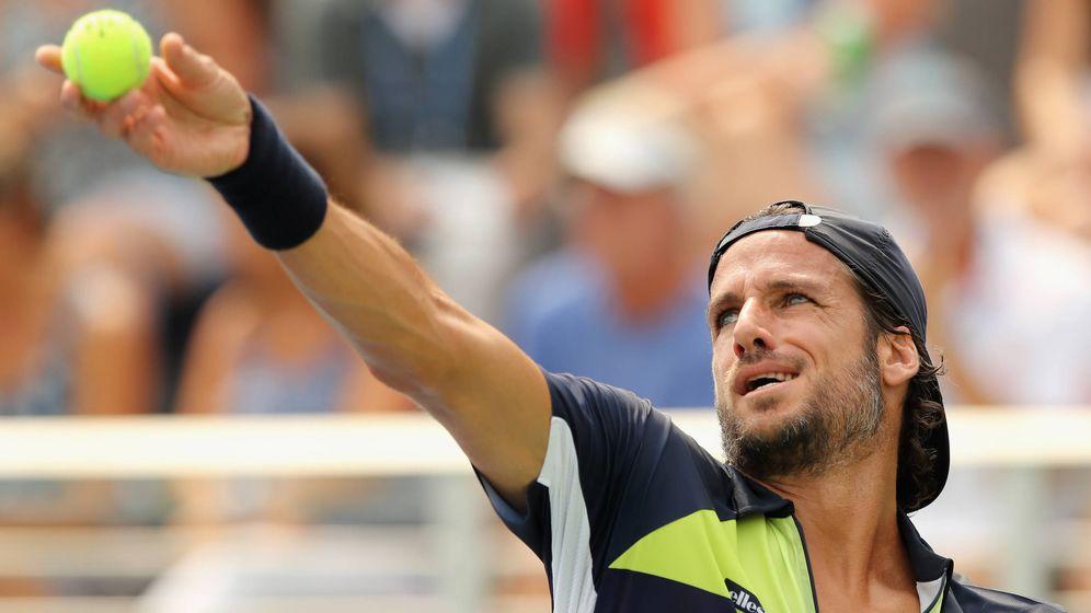 Foto: El tenista Feliciano López, jugando en Nueva York. (Getty)