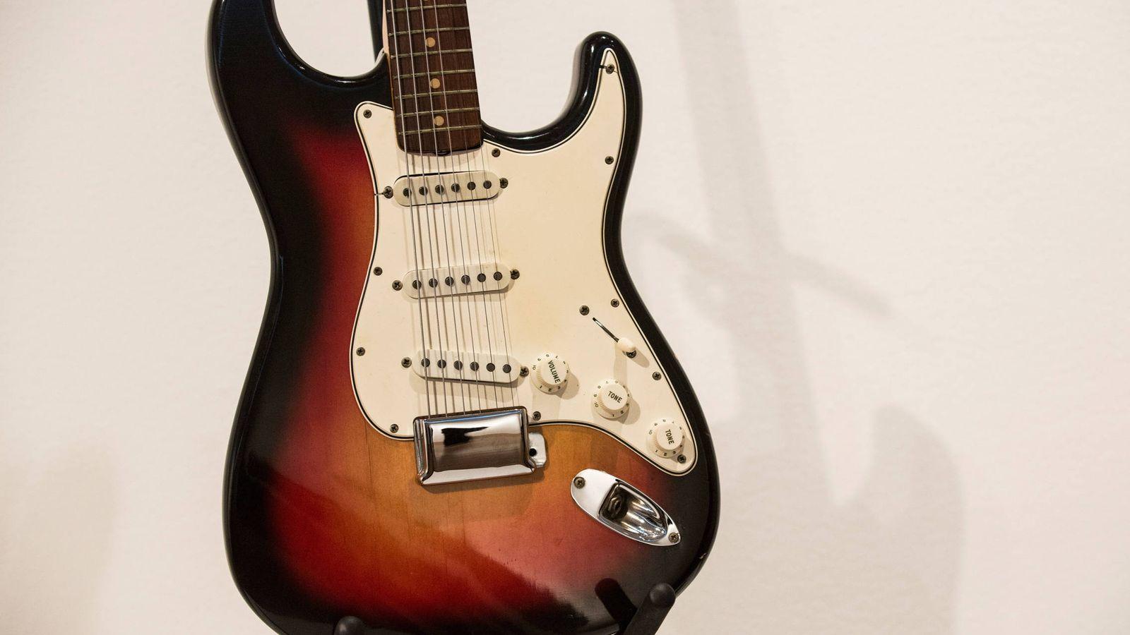 Foto: Guitarra de Bob Dylan. (Getty)