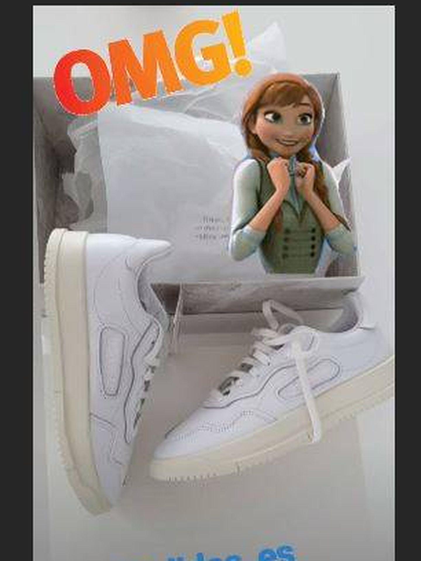 Instastory de Paula Echevarría con sus nuevas zapatillas.