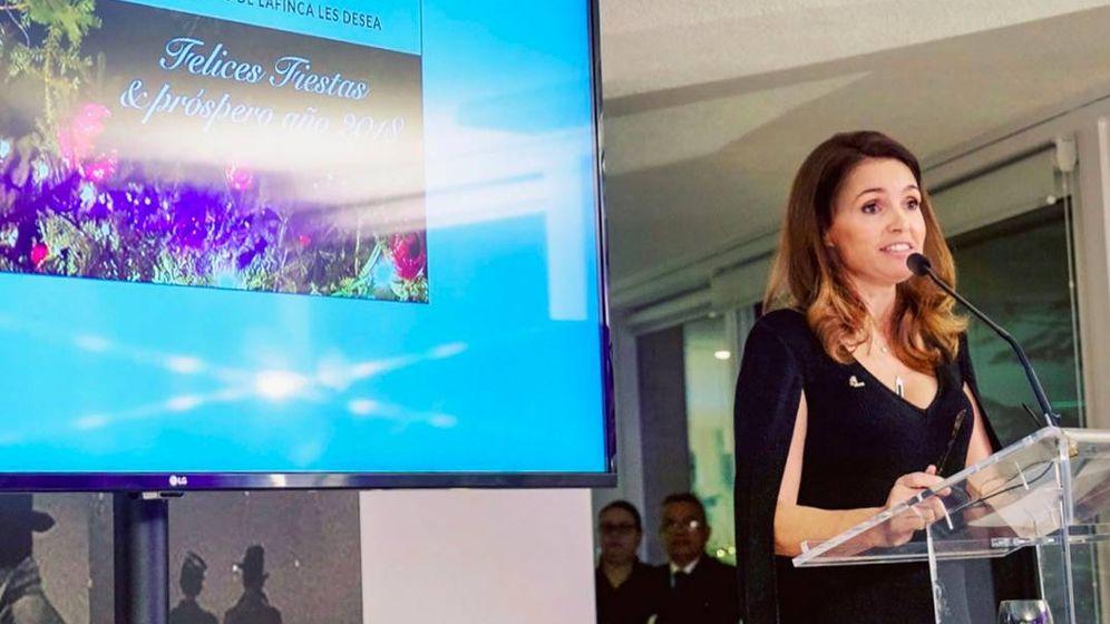Foto: Susana Cereceda, en el discurso de la Navidad de 2018 a sus empleados.