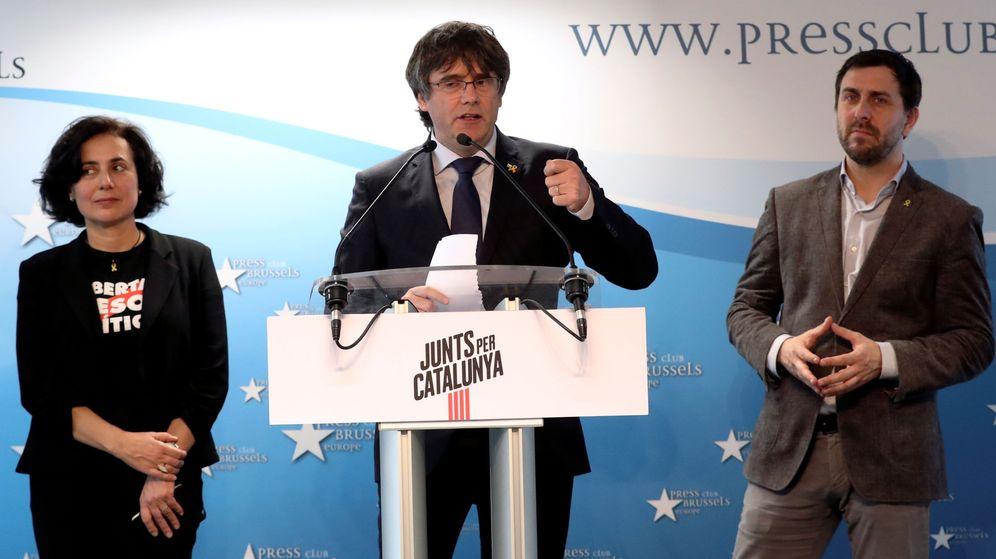 Foto: El expresidente Carles Puigdemont, en la presentación de su candidatura a las europeas. (Reuters)