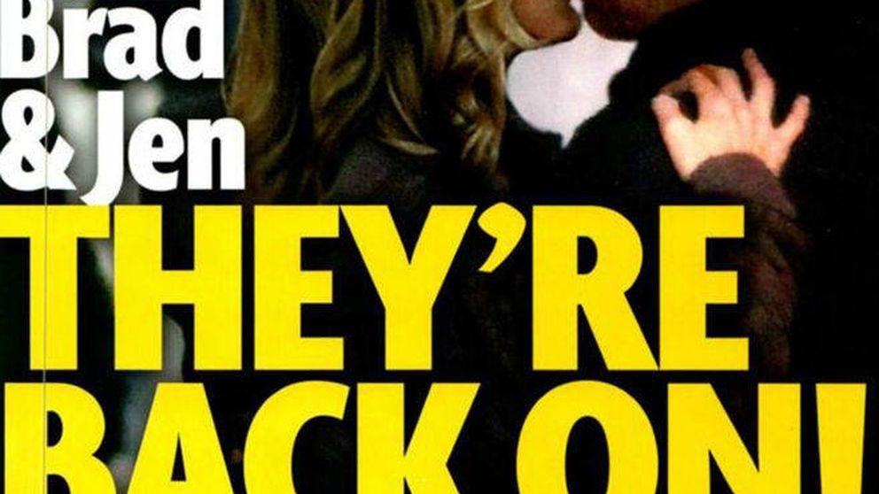 Cazan a Jennifer Aniston y Brad Pitt besándose (pero todo es un montaje)