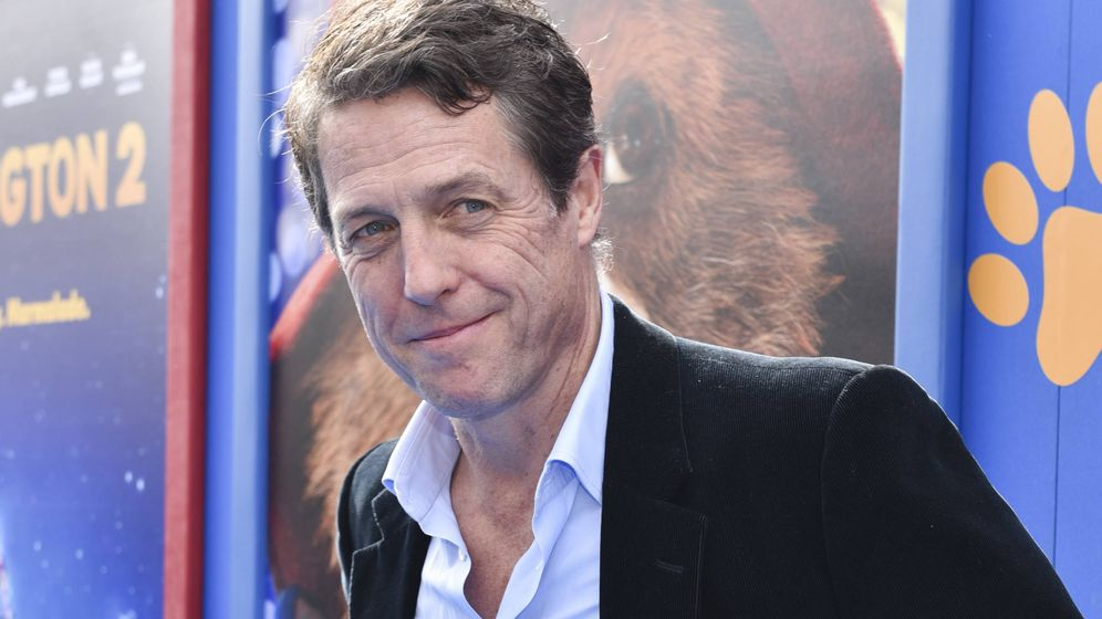 Foto: Hugh Grant, enfadado. (Getty)