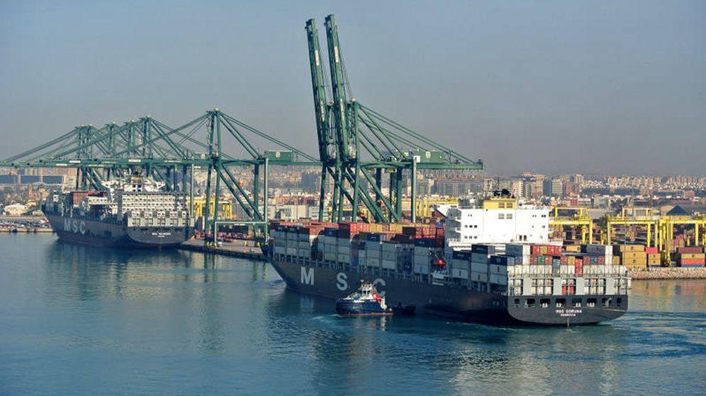 Foto: Cargueros de MSC en el Puerto de Valencia.