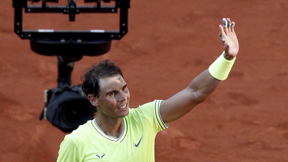 Foto: Rafa Nadal, tras su victoria ante Goffin este viernes. (EFE)