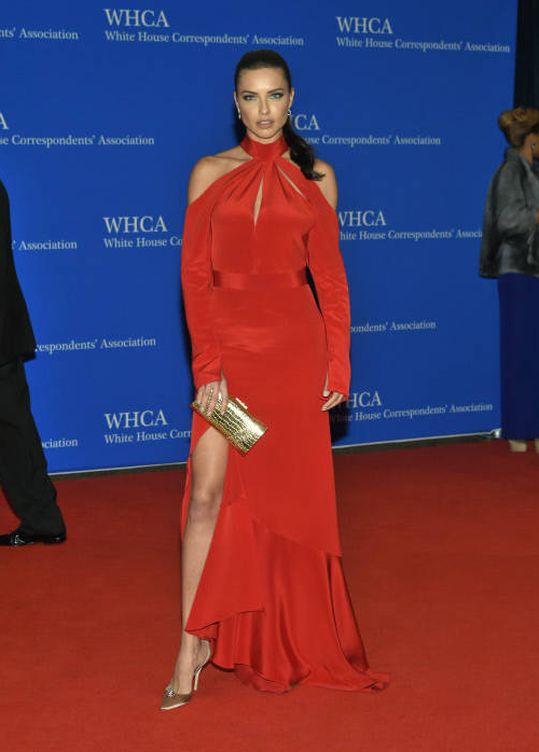 Model Adriana Lima at the White House Correspondents' Association (WHCA) annual dinner in Washington, DC,USA, on April 30, 2016.