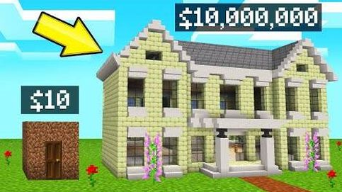 MINECRAFT $10 vs. $10,000,000 MANSION TOUR! (House Build Challenge)