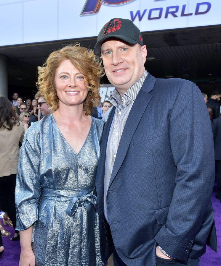 Foto: Kevin Feige junto a su mujer. (Getty)