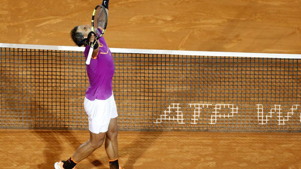 Foto: Nadal celebra su victoria contra Schwartzman. (EFE)