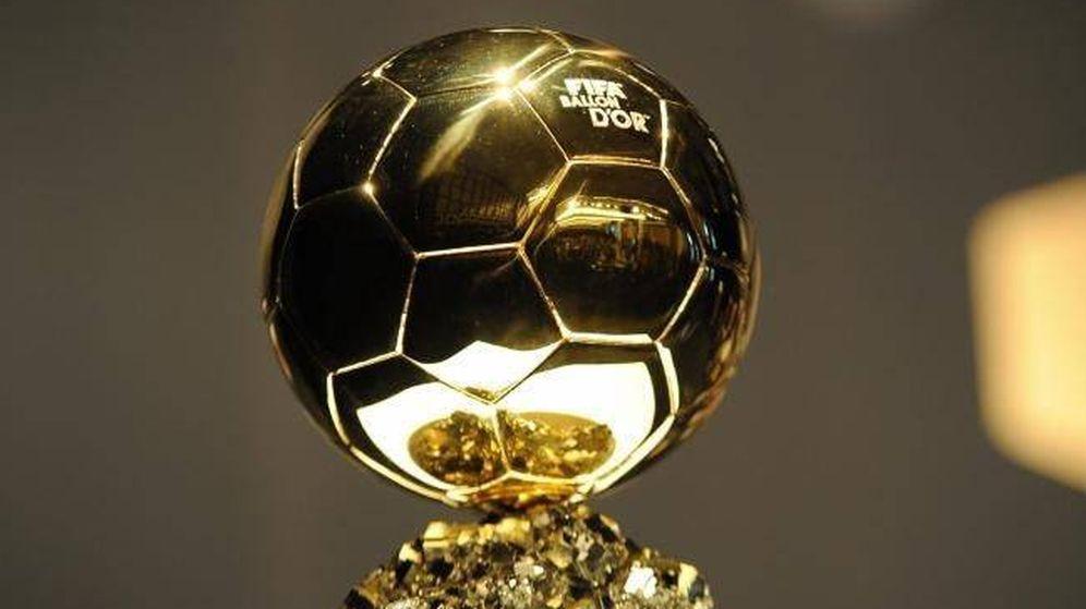 Foto: Trofeo del balón de oro.