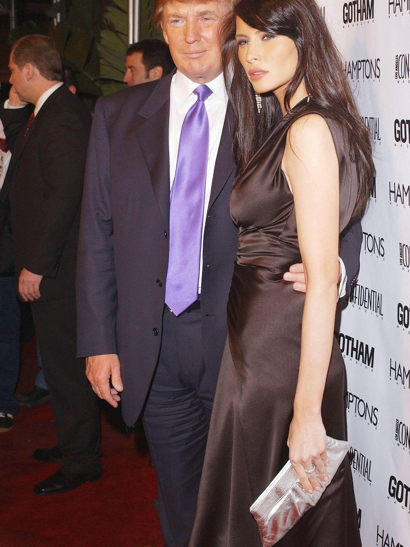 Donald y Melania Trump, en 2004. (Getty)