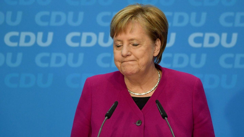La canciller alemana, Angela Merkel, ofrece una rueda de prensa en Berlín. (EFE)