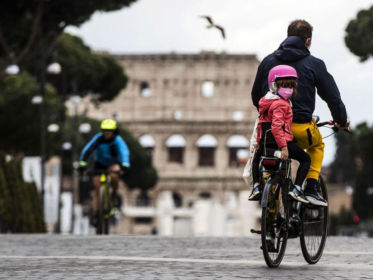 Foto: Bicicletas en Roma. (EFE)