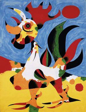 La obra 'Le coq' logra el récord de venta de un Miró al substarse por 9,78 millones de euros