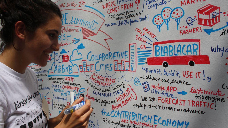 Foto: La economía colaborativa pasa por ser un pilar clave del futuro tecnológico. Foto: OuiShare (Flickr).
