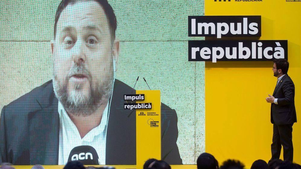 Foto: Junqueras en una intervención en vídeo. (EFE)