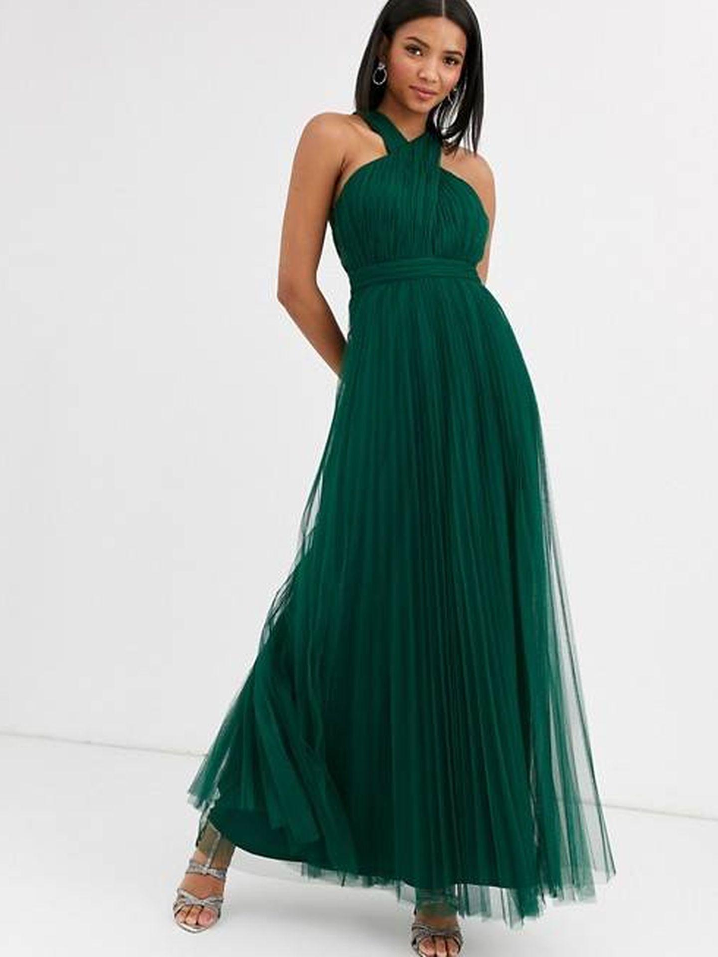 El vestido de tul de Asos Design. (Cortesía)