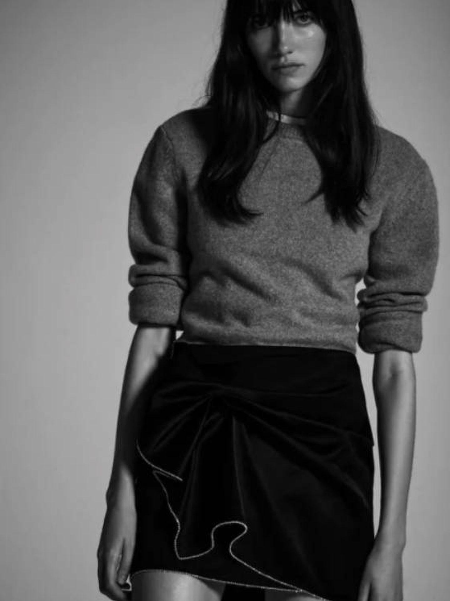 La minifalda de Zara. (Cortesía)