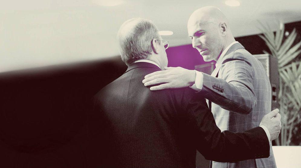 Foto: Florentino Pérez y Zidane. (Imagen: Enrique Villarino)
