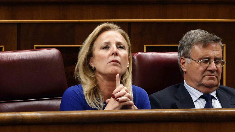 Lourdes Mendez durante el debate de la reforma de la ley del aborto la pasada legislatura. (EFE)