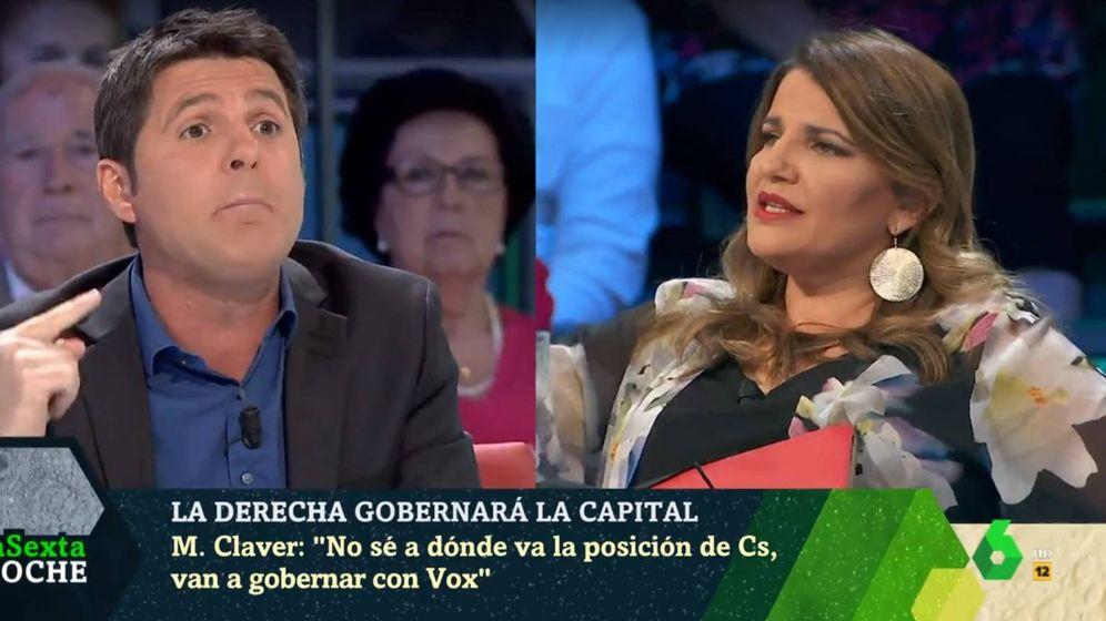 Foto: Jesús Cintora y María Claver, en 'La Sexta noche'. (Atresmedia).