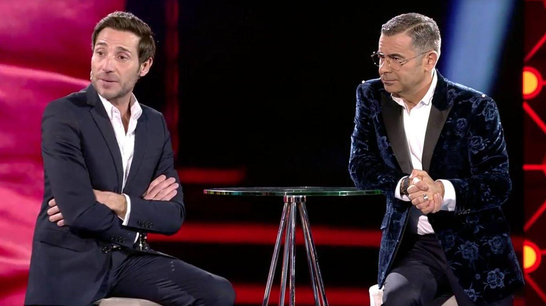 Antonio David Flores, recién expulsado de 'GH VIP 7', con Jorge Javier Vázquez. (Telecinco)