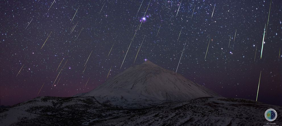 Foto: La lluvia de Gemínidas de 2013, captada por el astrofotógrafo Juan Carlos Casado