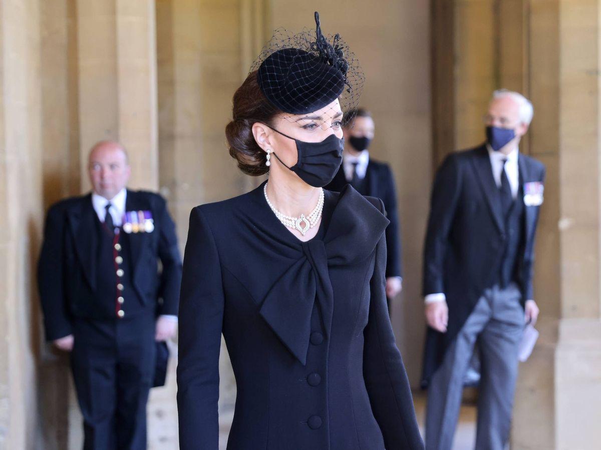 Foto: Kate Middleton, en el funeral del duque de Edimburgo. (Cordon Press)
