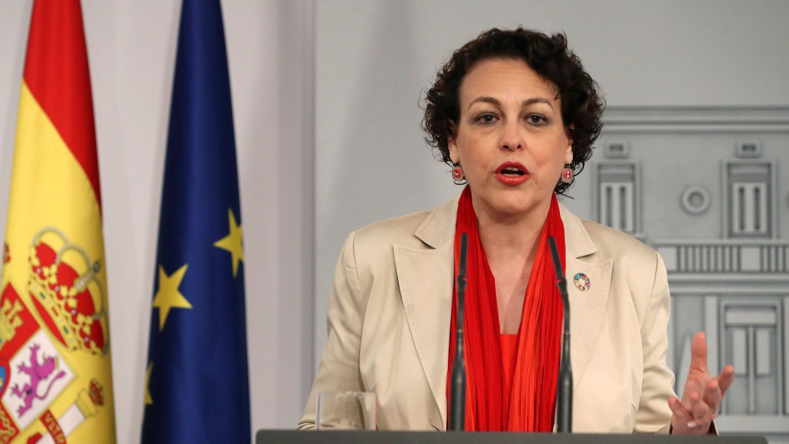 Foto: La ministra de Trabajo en funciones, Magdalena Valerio, en una comparecencia. (EFE)