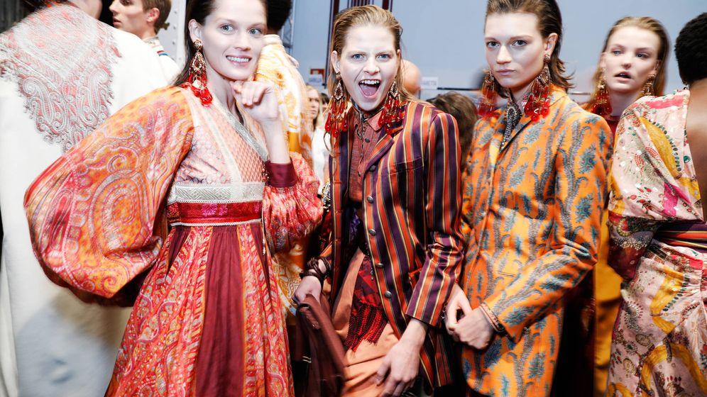Foto: Backstage de la firma Etro, Semana de la Moda de Milán (Tristan Fewings/Getty Images)