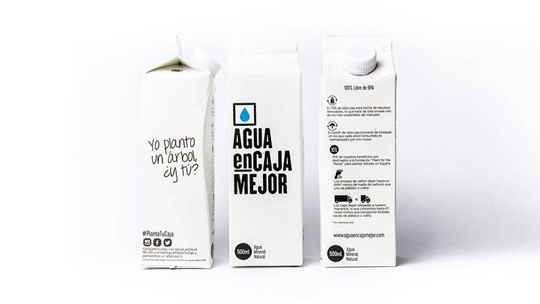 Foto: Imagen del envase sostenible Agua enCaja Mejor.