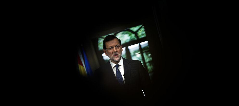 Foto: Mariano Rajoy, en la rueda de prensa que ofreció ayer en Moncloa (AP).