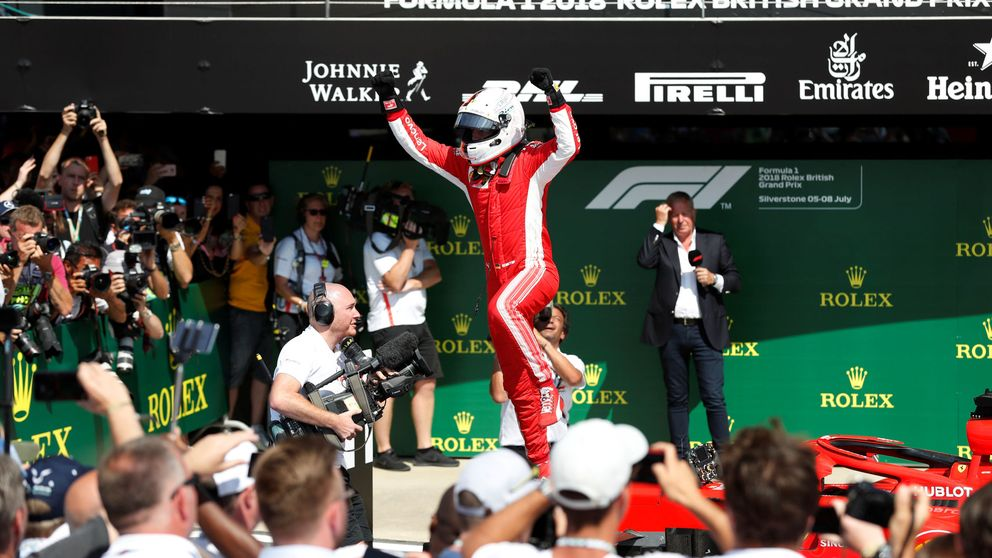 El GP de Gran Bretaña de F1 en directo: Victoria de Vettel con Alonso 8º y sin Sainz