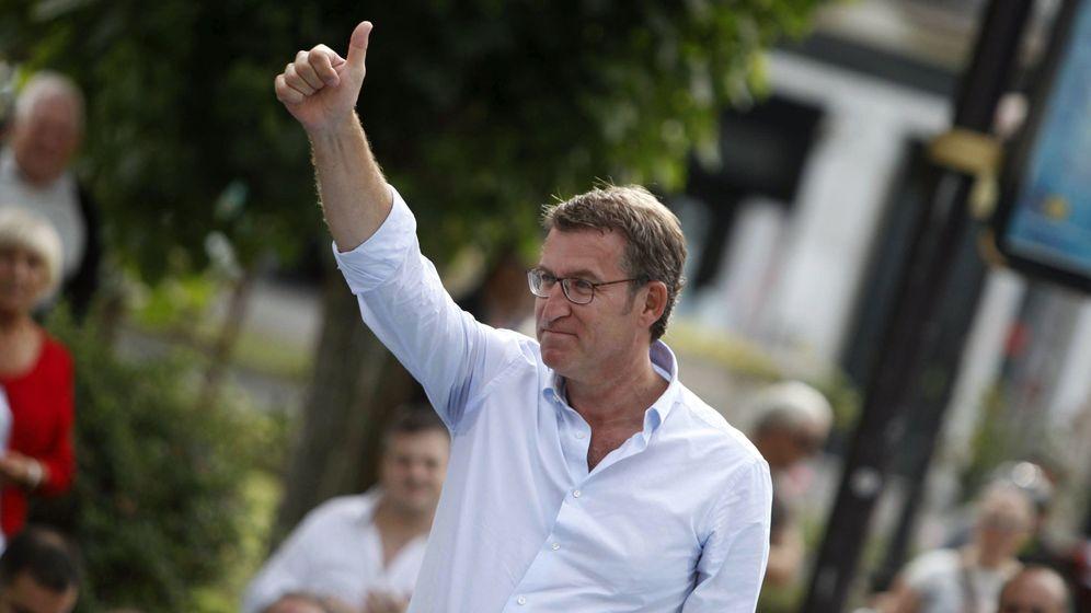 Foto: El presidente de la Xunta de Galicia, Alberto Núñez Feijóo, en un acto de campaña. (EFE)