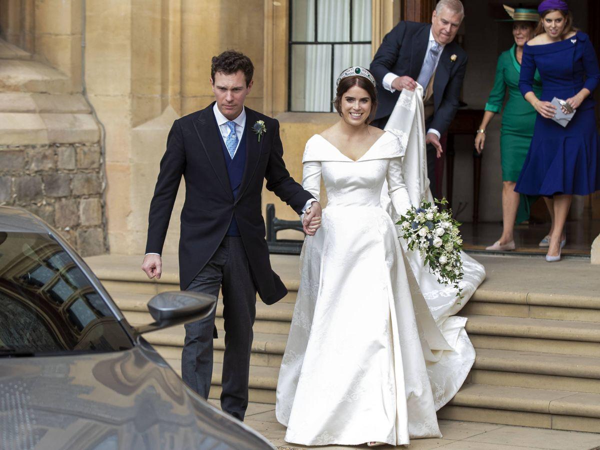 Foto: Eugenia de York y Jack Brooksbank, el día de su boda. (Getty)