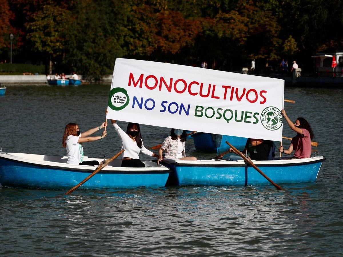 Foto: Protesta contra los monocultivos en Madrid. (Reuters)