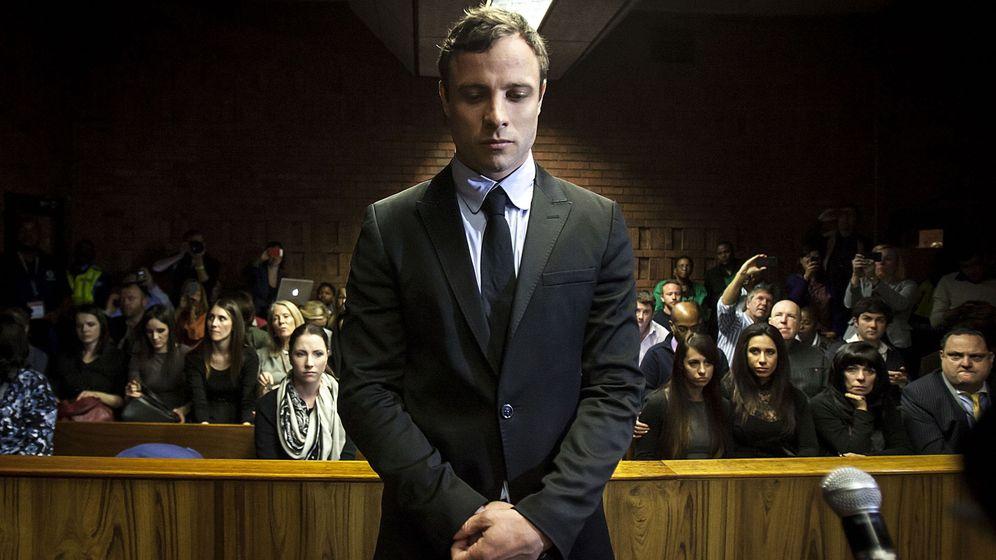 Foto: Oscar Pistorius, durante el juicio. (EFE)