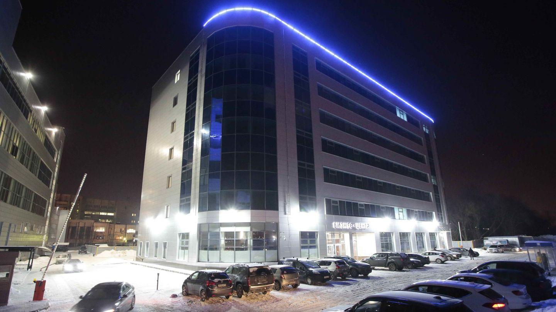 Vista general del centro de negocios Lakhta-2, que se cree que aloja una 'granja de trolls', en San Petersburgo, en febrero de 2018. (Reuters)