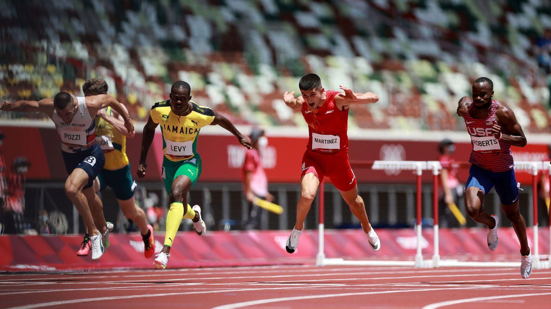 Asier Martínez se cuela en la final de los 100 metros vallas. (Reuters)