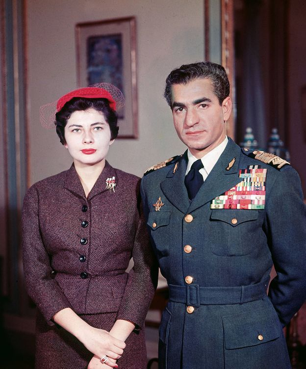 Foto: Soraya y el sah, en una imagen de 1958. (Getty)