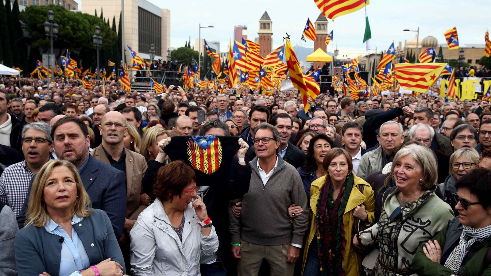 Foto: Artur Mas en una protesta reciente (EFE)