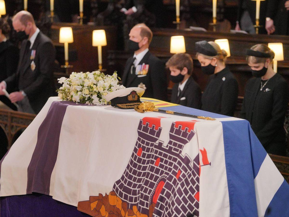 Foto: El féretro del duque de Edimburgo. (Cordon Press)
