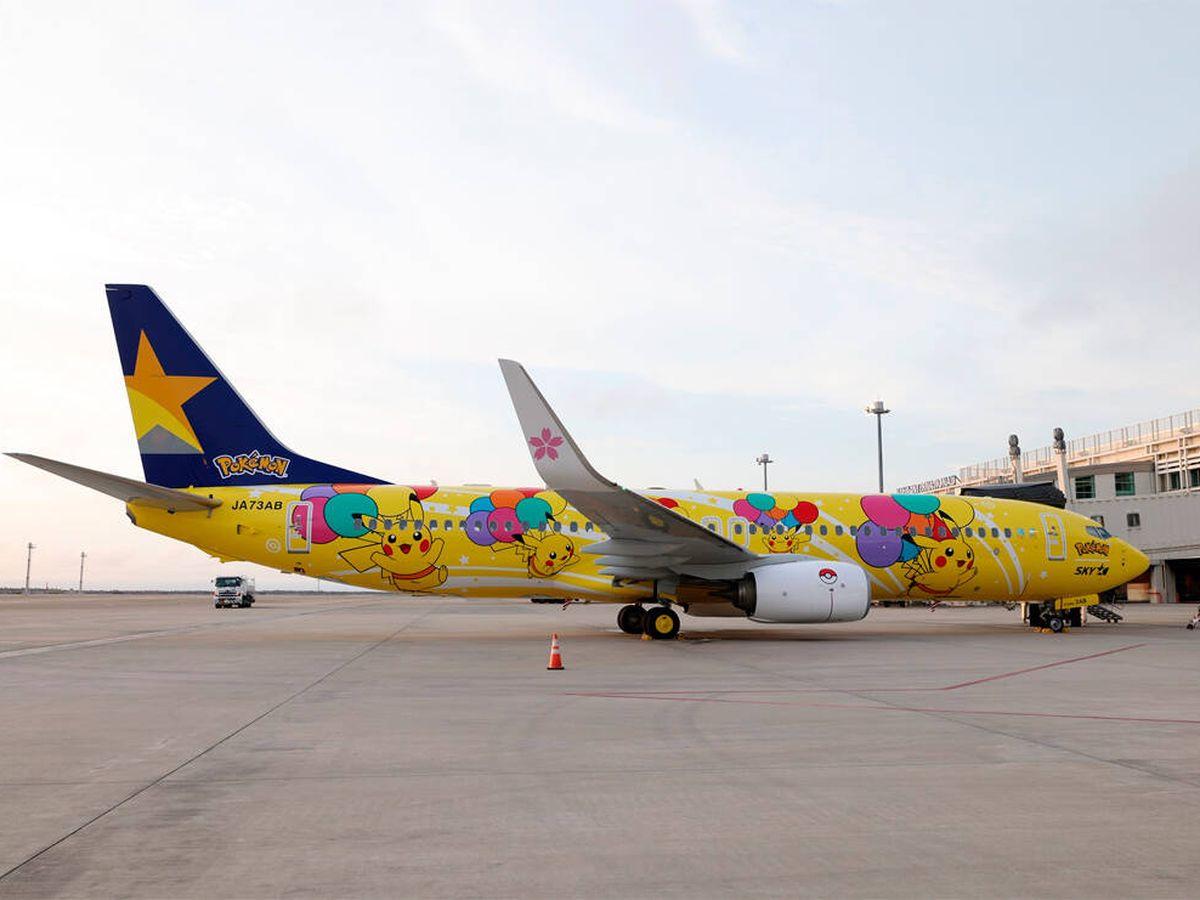 Foto: El avión de Pikachu ya es una realidad (Facebook/Skymark Airlines)