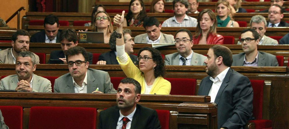 Foto: Diputados de ERC en el Parlamento catalán. (EFE)