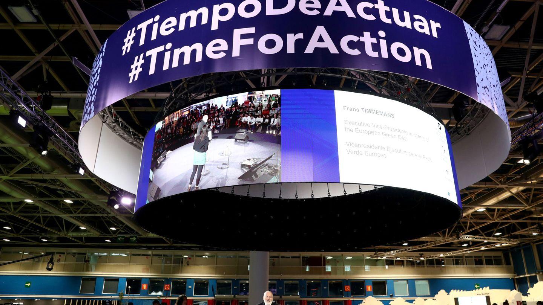 Llamada a la acción en la Cumbre del Clima COP25 en Madrid. (Reuters)