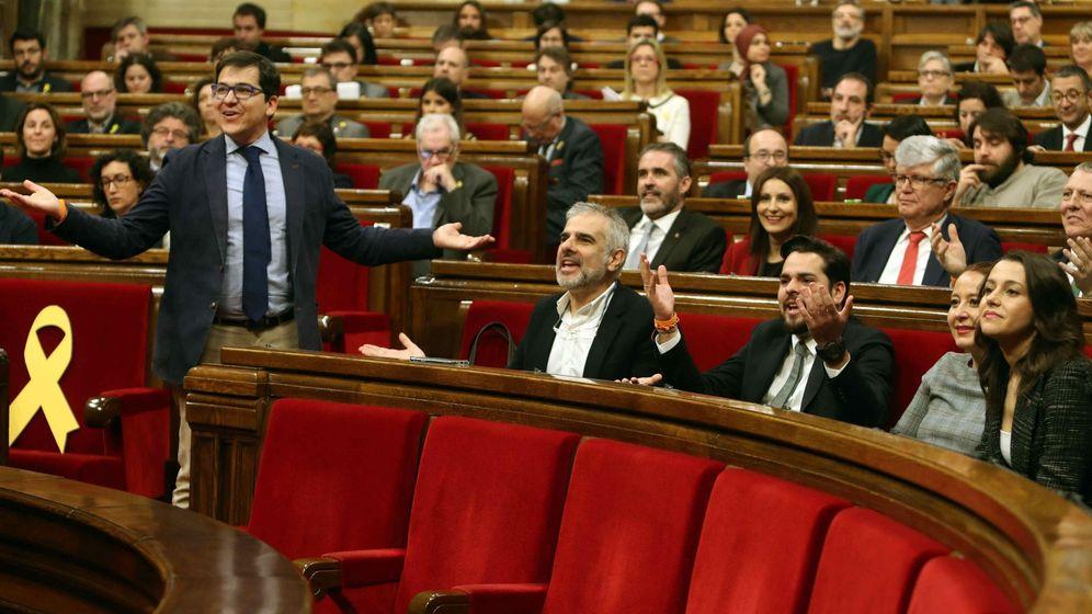 Foto: El grupo parlamentario de Ciudadanos la semana pasada en el Parlament. (EFE)