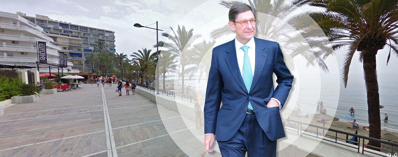 Foto: El presidente de Bankia sobre el paseo marítimo de Marbella