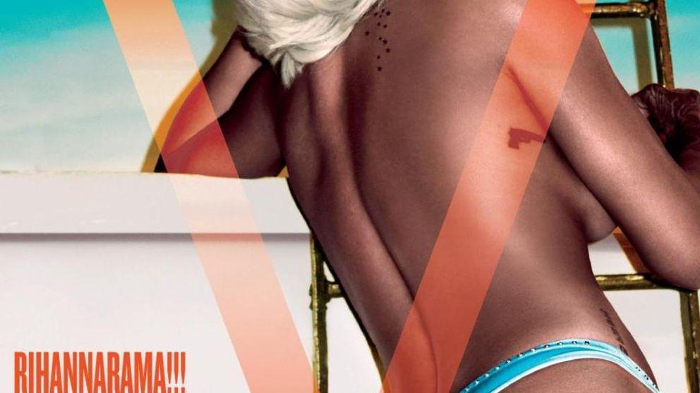Rihanna, una rubia sensual en 'topless' para 'V Magazine'