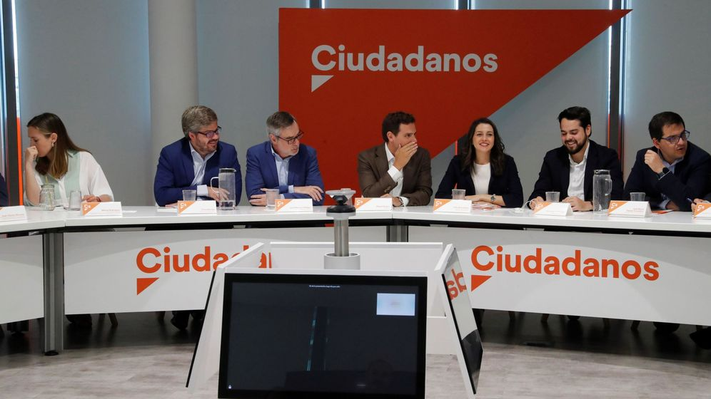 Foto: El líder de Ciudadanos, Albert Rivera, preside la ejecutiva del pasado lunes. (EFE)