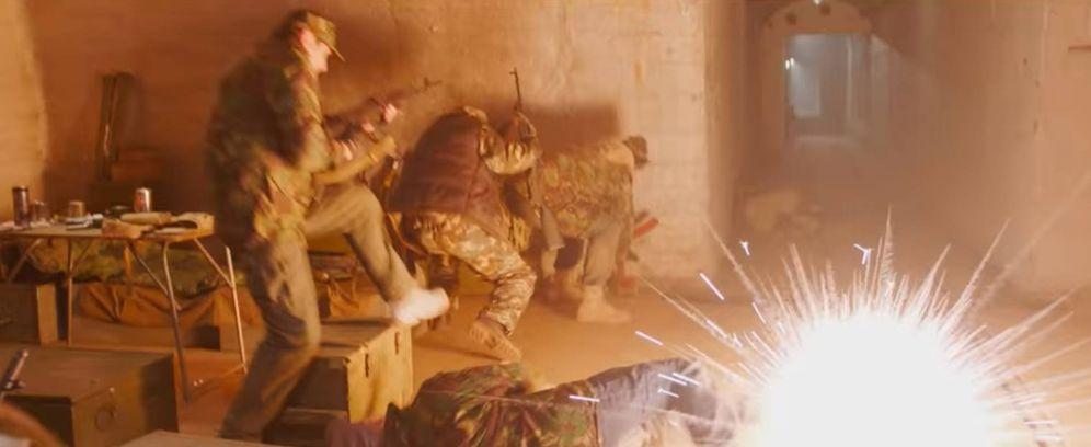 Foto: Una de las secuencias de acción de la película mostradas en el tráiler (Captura de pantalla de YouTube)